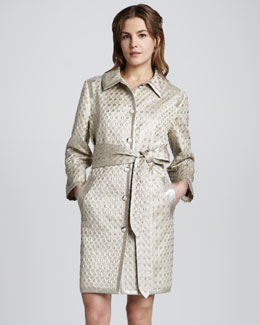 MARC by Marc Jacobs Romy Dot-Jacquard Coat