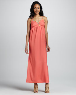 6 Shoreroad Dragonfly Embroidered Maxi Dress
