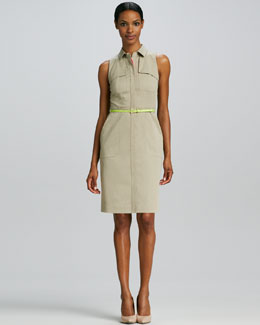 Elie Tahari Gianna Belted Shirt Dress