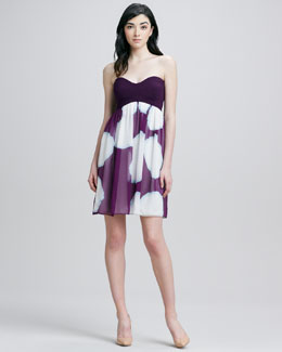 Diane von Furstenberg Strapless Chiffon Dress
