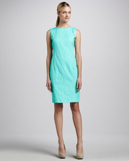 Lafayette 148 New York Paige Sleeveless Crinkled Dress