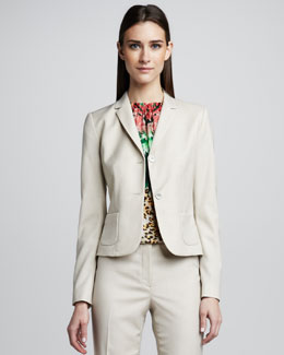 Elie Tahari Shannon Two-Button Jacket