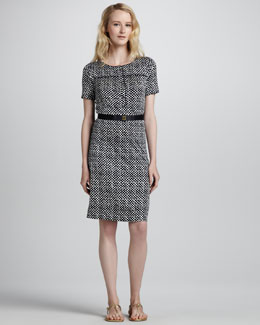 Tory Burch Peggy Polka-Dot Dress
