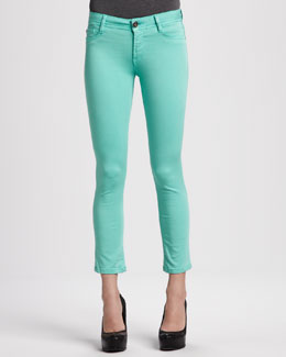 DL 1961 Premium Denim Toni Napa High-Rise Cropped Denim Leggings