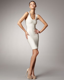 Herve Leger Scallop-Neck Bandage Dress