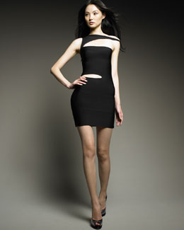 Herve Leger Slashed Bandage Dress