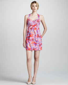 Nanette Lepore Paros Floral-Print Sleeveless Dress