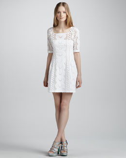 Nanette Lepore Sandy Beach Lace Dress, White