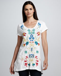 JWLA for Johnny Was Miranda Embroidered Tunic, Classic