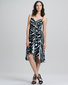 Shoshanna Alicia Spring Striped High-Low Maxi Dress