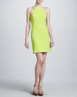 Michael Kors Boucle Racerback Dress, Acid