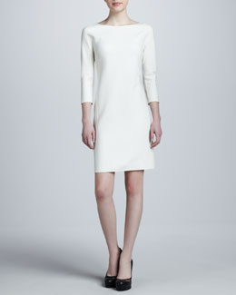 Michael Kors Crepe Dolman-Sleeve Dress, White