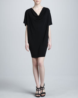 Michael Kors Cowl-Neck Jersey Shift Dress