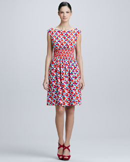 kate spade new york blaire tile-print dress