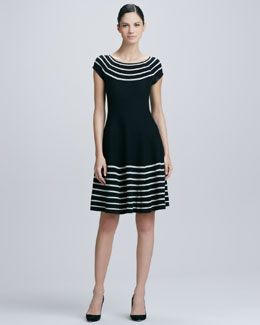 kate spade new york amaila fit-and-flare sweater dress, black