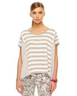 MICHAEL Michael Kors Striped Slub Tee