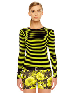 MICHAEL Michael Kors  Jardin Striped Top