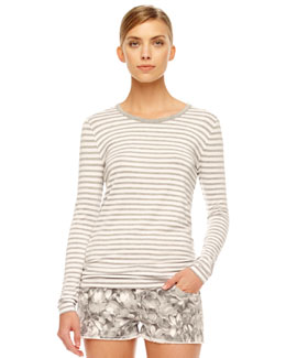 MICHAEL Michael Kors Jardin Striped Tee