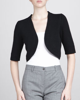 MICHAEL KORS Cashmere Shrug, Black