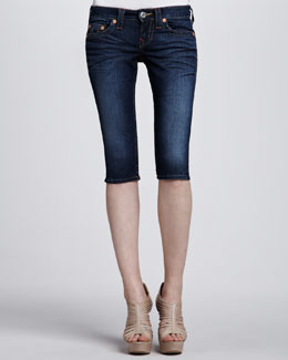True Religion Stella Cropped Shorts