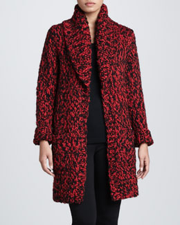 Michael Kors Textured Wool Cardigan