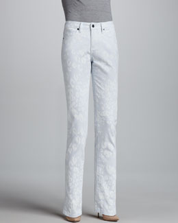 Christopher Blue Snow Leopard Isabel Skinny Jeans