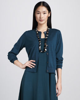 Eileen Fisher Merino Short Cardigan
