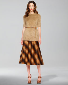 Michael Kors Ombre Plaid Skirt