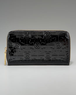 Tory Burch Embossed Luxe Continental Wallet