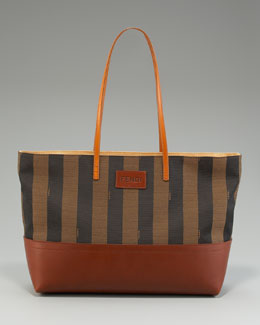 Fendi Striped Roll Tote