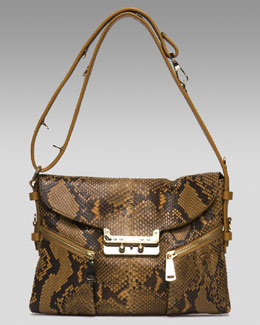 VBH Vee Mail Small Python Shoulder Bag