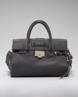 Jimmy Choo Rosalie Pebble Leather Satchel