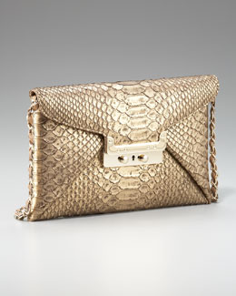 VBH Prive Metallic Python Clutch