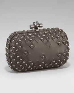 Bottega Veneta Studded Knot Clutch