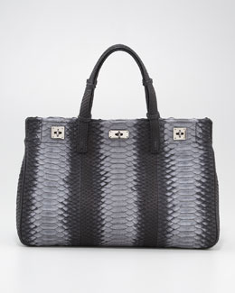 VBH Python Turn-Lock Satchel Bag