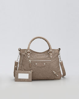 Balenciaga Giant 12 Nickel Town Bag, Gris Poivre