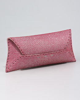 VBH Manila Stretch Sparkle Clutch Bag, Rose