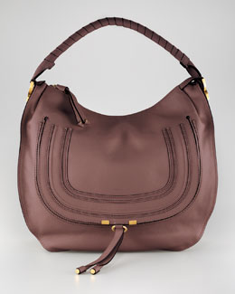 Chloe Large Marcie Hobo Bag, Nut