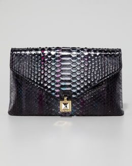 Kara Ross Zanna Python Envelope Clutch Bag