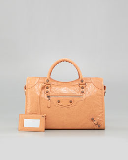 Balenciaga Giant 12 Rose Golden City Bag, Rose Blush