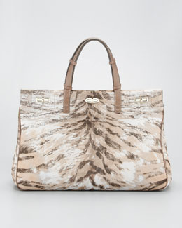 VBH Vault Tiger-Print Calf Hair Handbag