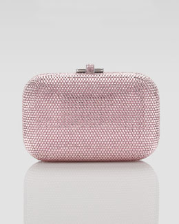 Judith Leiber Slide Lock Minaudiere, Light Rose