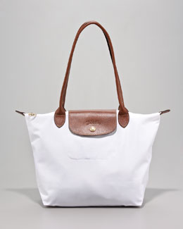 Longchamp Le Pliage Small Shoulder Tote Bag, White