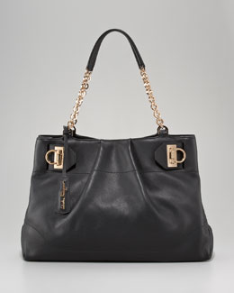 Salvatore Ferragamo Gancini Chain Tote Bag