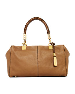 Michael Kors  Skorpios Zip-Top Satchel Bag, Desert