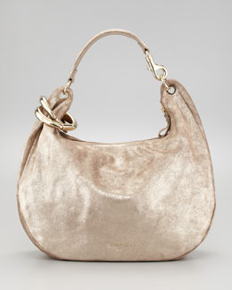 Jimmy Choo Solar Metallic Hobo Bag