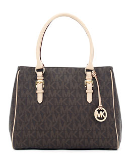 MICHAEL Michael Kors  Jet Set Logo Medium Work Tote Bag