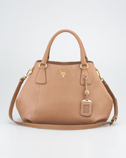 Prada Daino Double-Handle Tote Bag