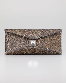 Kara Ross Stretch Prunella Glitter Clutch Bag
