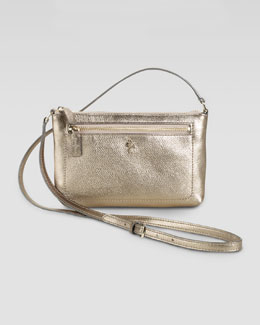Cole Haan Mini Jitney Ali Crossbody Bag, Metallic